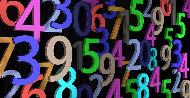 Colourful numbers image