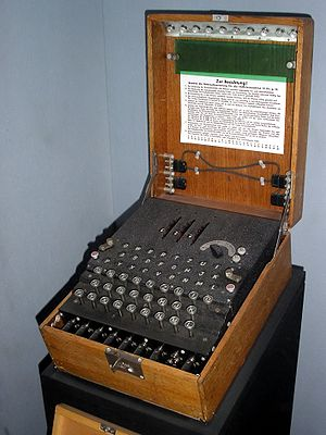Enigma three-rotor machine